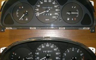 Установка панели приборов с тахометром на Ланос