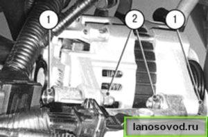 Демонтаж генератора с ланоса