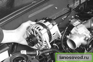 Извлечение генератора на ланосе