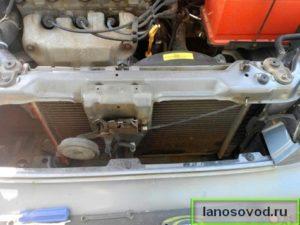 Как установить радиатор охлаждения на Ланос