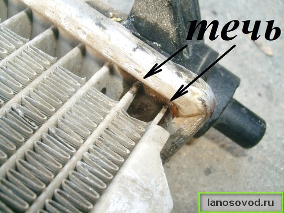 Когда менять радиатор на ланосе