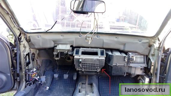 Ланос как снять торпеду и заменить радиатор печки