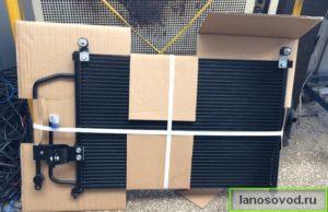 Новый радиатор кондиционера Нисенс на Ланос