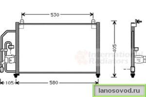 Размеры радиатора кондиционера ланос