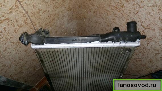 Ремонт радиатора Ланос
