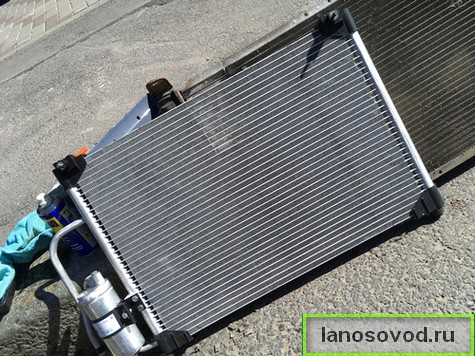 Установить новый радиатор кондиционера на Ланос Сенс Шанс