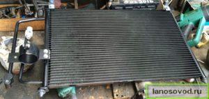 Замена радиатора кондиционера Ланос