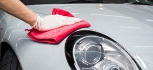 Мытье машины перед полировкой