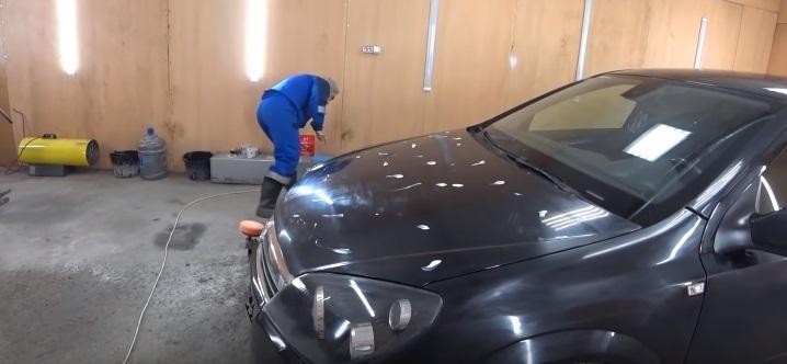 Нанесение полироля на кузов