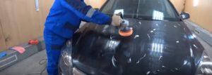Полировка авто шлифовальной машинкой