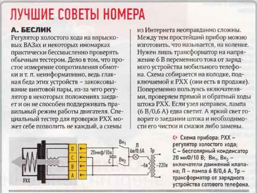 Схема проверки РХХ
