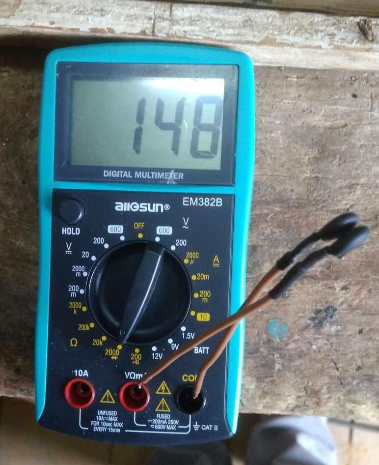 Проверить сопротивление терморезистора