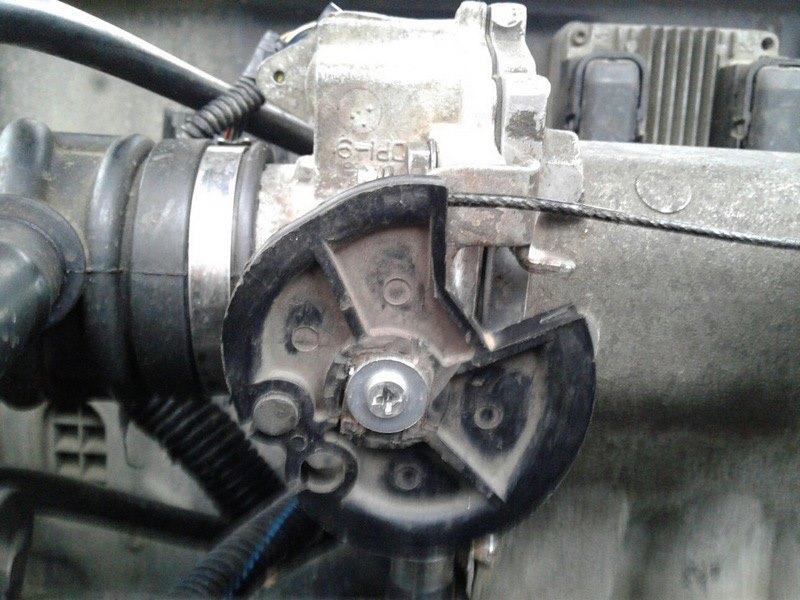 Подсос воздуха через механизм регулировки положения заслонки Ланос
