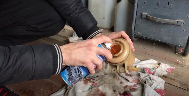 Промывка бачка ГУР