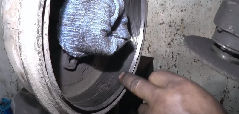 Удалить буртик на барабане
