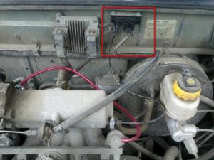 МАП сенсор на ланосе где стоит