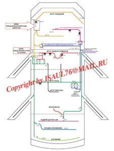 Схема расположения соединений по кузову автомобиля Ланос