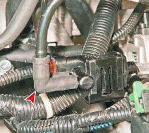 Как снять электромагнитный клапан адсорбера Ланос